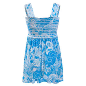 Milk Nursingwear Sleeveless Babydoll Nursing top in blue print