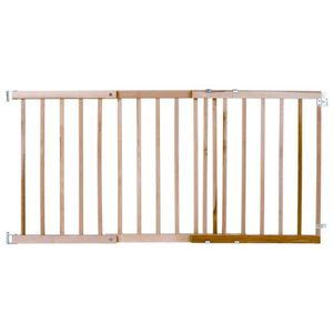 North States Wide Stairway Wood Swing Gate, White