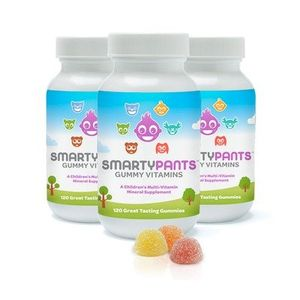 SmartyPants Children's Gummy Multivitamin with Omega-3 and Vitamin-D, 3-Count