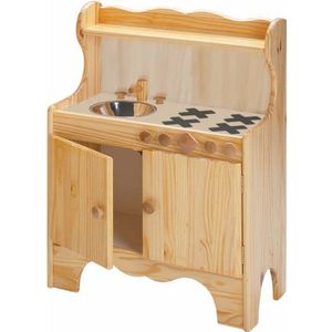 Little Colorado Kid's Kitchen Center - Natural Wood Finish