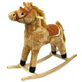 Happy Trails Horse Plush Rocking Horse - Wooden Rocker