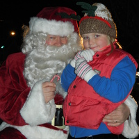 Maddy with Santa