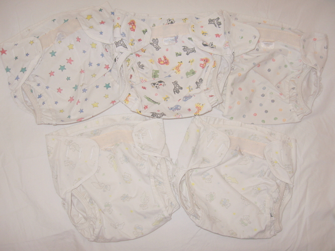 080608 Lot of 5 Cloth Diaper Covers Kooshie Kushy Size Toddler 22-45 lb.JPG