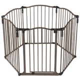 North States 3 in 1 Metal Superyard Curve Gate, Bronze