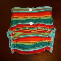 Newborn Striped Diaper