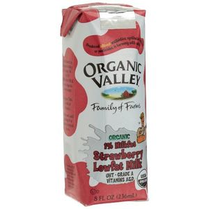 Organic Valley Strawberry Lowfat Milk, 8-Ounce Aseptic Carton (Pack of 12)