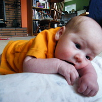 here is cael at 6 weeks