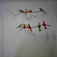 The bird mobile over the changing table
