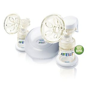 Philips AVENT BPA Free ISIS iQ Duo Twin Electric Breast Pump, White