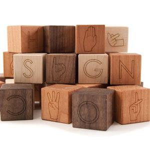 Organic ASL Alphabet Blocks