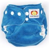 Little-to-Big Organic Cotton Velour Diaper with Snap Closure