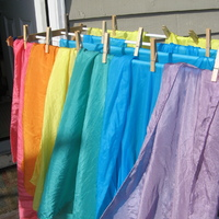 I have silks in 35 inch squares for $12 ($65 for a rainbow set of 6) and 21 inch square for $8 ($42 for rainbow set of 6). I should have time to check with the post office on shipping charges tomorrow. I'm still figuring out how to do the shipping on these things! What is your location?   Thanks for your interest!  Sue
