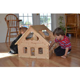 Elves and Angels Natural Wooden Maine Dollhouse