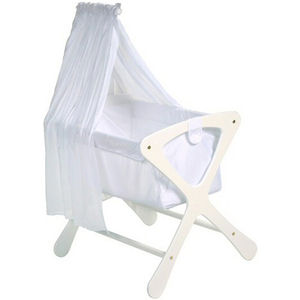 Cariboo Bassinet Veil Arm with Veil - White