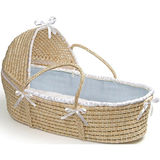 Moses Basket with Hood  - Solid - Blue