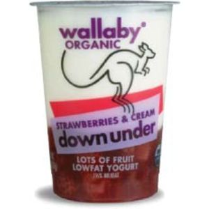 Wallaby Yogurt Organic Down Under Strawberries and Cream