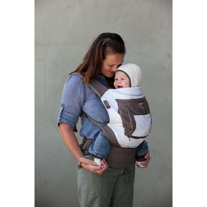 Onya Baby The Cruiser Baby Carrier - Dove Gray / Chocolate Chip