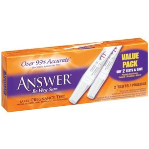 Answer Quick & Simple Early Result Pregnancy Test, 2-Count Boxes (Pack of 2)
