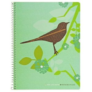 Top Flight New Leaf Paper Reflections Wirebound Notebook