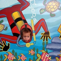 "My little grandson ""scuba diving"" at Disney!"