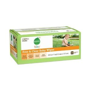 Seventh Generation free and clear baby wipes 350 count refills