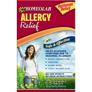 Homeolab USA Allergy Relief Tablets, 63 Chewable Tablets