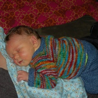 B-boy in lovely handkntis by Mosaic Moon