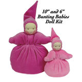 "Bunting Baby Doll Making Kit -- 10"" and 6"""