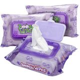 Boogie Wipes Saline Nose Wipes Great Grape - Set of 3 (90 Wipes Total)