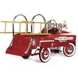 American-Retro Classic Pedal Fire Truck - Deluxe White Trim
