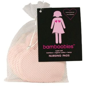 Bamboobies Organic Bamboo Nursing Pads - Light Pink - 4 pk