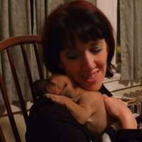 Me (Kelly) with baby Cinnamon!