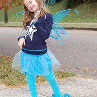 This is a mama made costume. It was featured on my blog Simply Natural Mom.