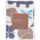 DwellStudio Gio Aqua Fitted Crib Sheet