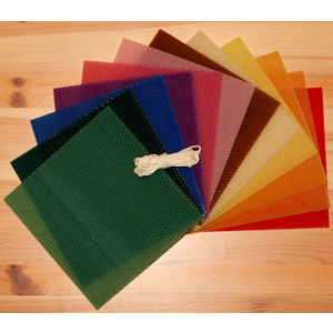 Image of: Multicolored Beeswax Candle Making Kit