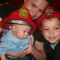 Me and my babies at the Fire Museum.