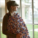 Bebe Au Lait Cotton Nursing Cover - Poppy Hills