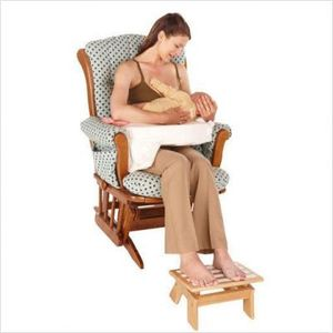 My Brest Friend Adjustable Nursing Stool, Wood