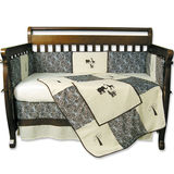 Trend Lab Sweet Safari Blue 4 Piece Crib Bedding Set