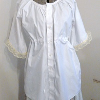 maternity shirt made from a mens button down.