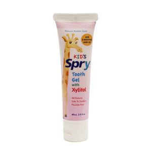Xlear Spry Kid's Tooth Gel with Xylitol, Bubble Gum Flavor, 2oz (2 Pack)