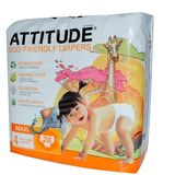 Attitude Eco-Friendly Baby Diapers, Maxi, Size 4, 26 ea, 1 ea