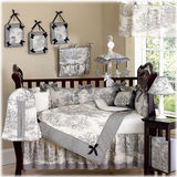 JoJo Designs Black Toile 9 Piece Crib Set