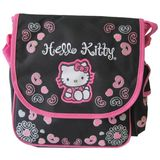 Hello Kitty Diaper Bag with Front Flap, Black/Pink