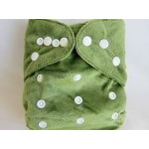 Kawaii Green Baby One-Size Bamboo Pocket - Blue Label