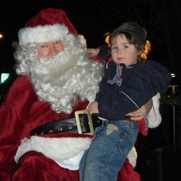 Quin with Santa