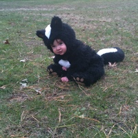 168 Days old, our little stinker of a sweetie <3 My first sewing project ever and costume was a sucess! Not even 6 months, He sat for the 1st time in this costume! All that material must have given him support!