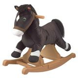 Tek Nek Rockin' Rider Talking Plush Black Pony Rocker Animated with Sound