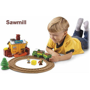GeoTrax Place Complete Set w/ Vehicle & Figure - Sawmill