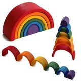 Wooden Stacking and Nesting Mini Rainbow 